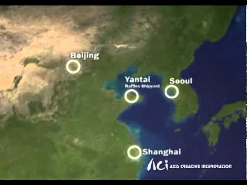 Yantai Raffles Shipyard _ Virtual Interactive Display of Taishan Shipyard Crane