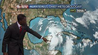 Tropical Storm Nate Near Yucatan on 10/6/17