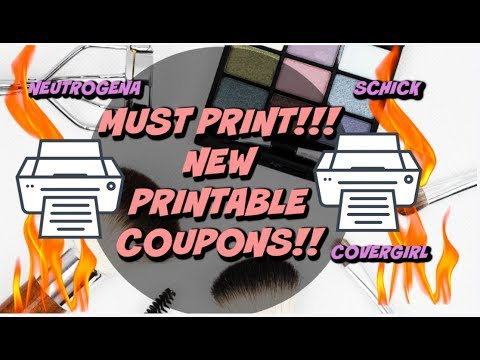 MUST PRINT   NEW PRINTABLE COUPONS   NEUTROGENA, SCHICK, COVERGIRL & MORE!