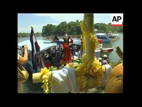 Easter week procession on Lake Nicaragua