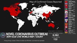 [LIVE ENDED] WUHAN Novel Coronavirus WORLD MAP/COUNT