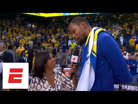 Kevin Durant says Warriors were 'engaged and focused' during Game 1 of NBA Playoffs | ESPN