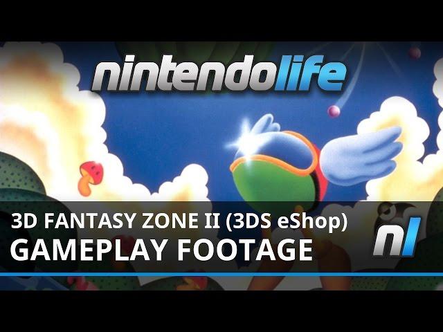 3D Fantasy Zone II Double (3DS eShop) Link Loop Land Gameplay Footage