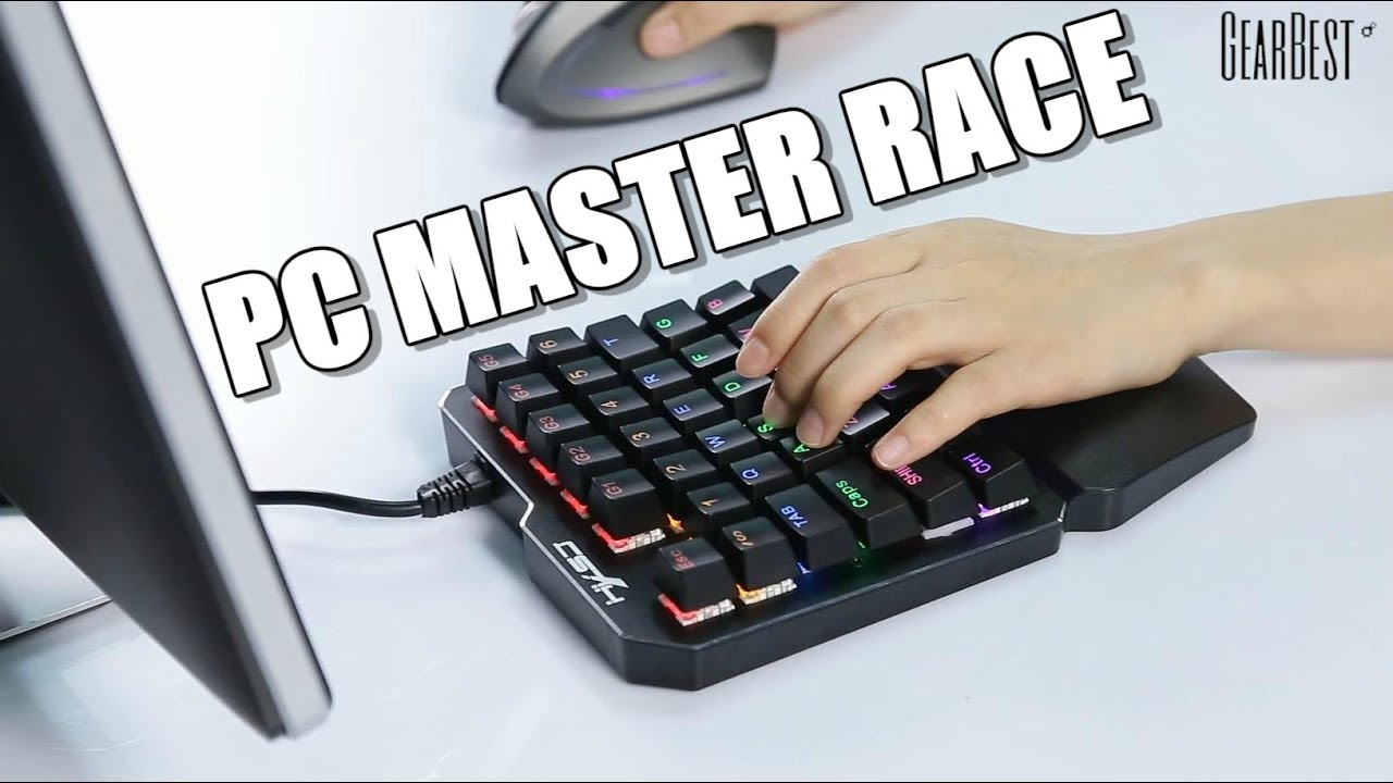 fcd51e978c0 One-handed Mechanical Gaming Keyboard - GearBest - YouTube