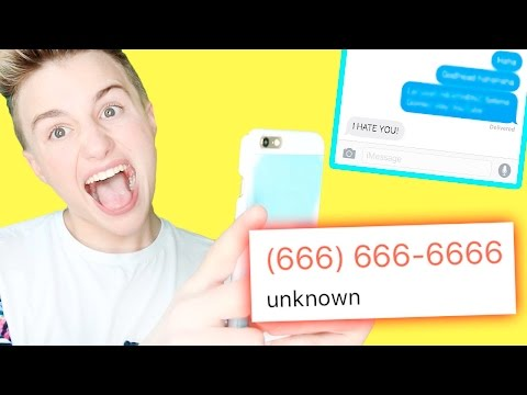 PRANKING YOUTUBERS WITH SONG LYRICS AS (666) 666-6666