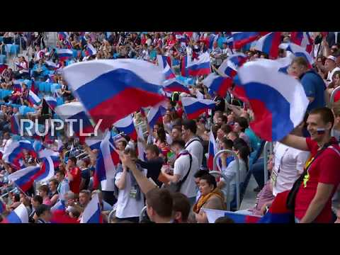 Russia: 'Welcome to Russia' - Putin opens the Confederations Cup