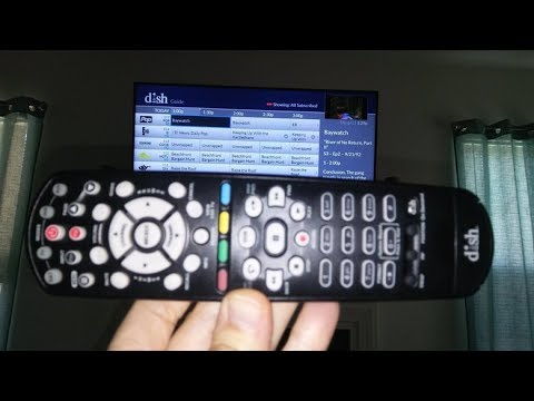 2018 DIY How To Pair & Program Hopper Joey Dish Network Remote 40 UHF Vizio  TV DVD AUX Samsung LG