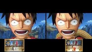 Cutscene Comparison - Luffy Meets Arlong (One Piece: Pirate Warriors 1 & 3)