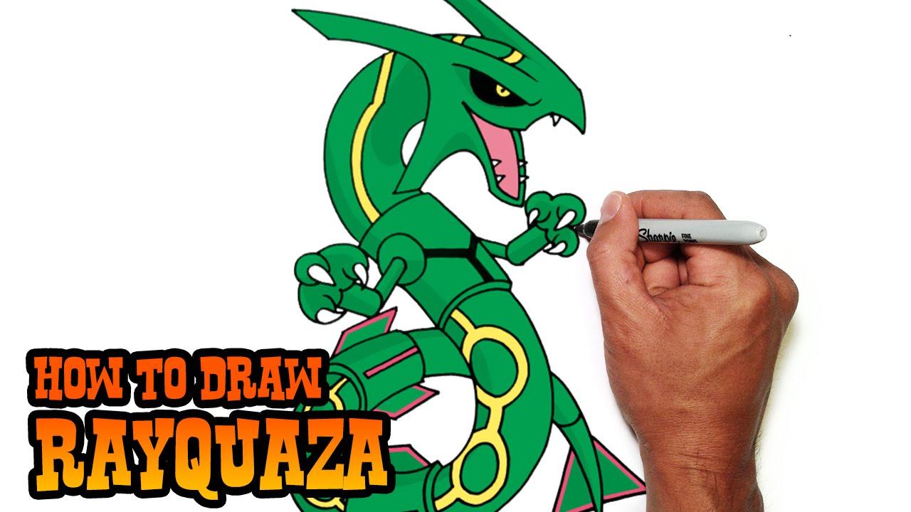 how to draw rayquaza pokemon youtube