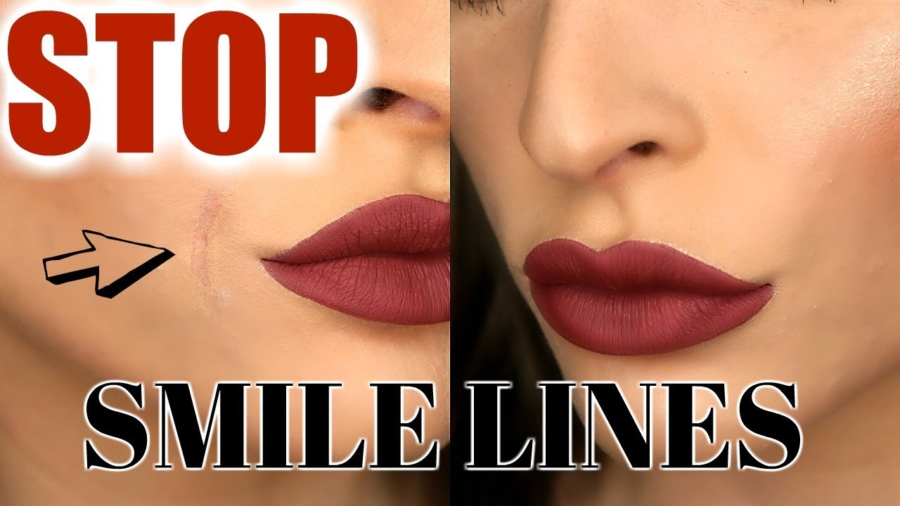 How To Stop Foundation Smile Line Creasing Quick Easy Youtube