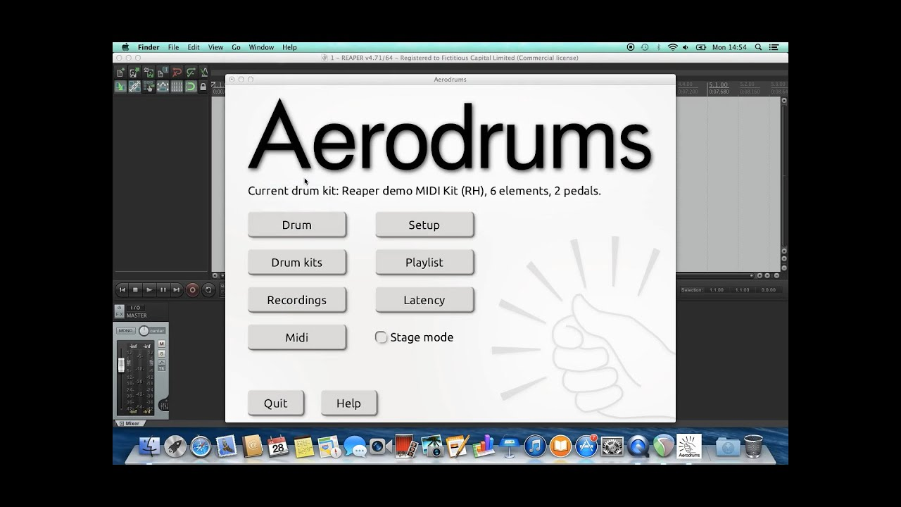Using Aerodrums with DAWs / drum samplers - Aerodrums