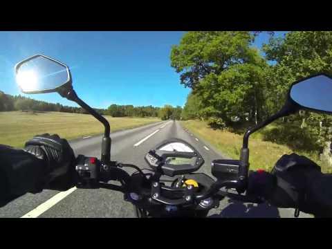 På motorcykel från Värmdö till Vaxholm (Kawasaki er6-n 2011) GoPro3 720p