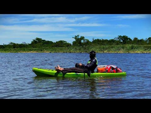 Teste Caiaque Lontras Pro Fish - Primeiras Remadas e Impressões.