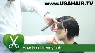 How to cut trendy bob. parikmaxer TV USA | parikmaxer TV USA