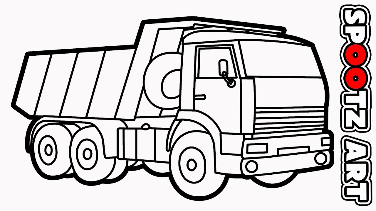 Menggambar Truk Pasir Sketsa Mobil Truk Youtube