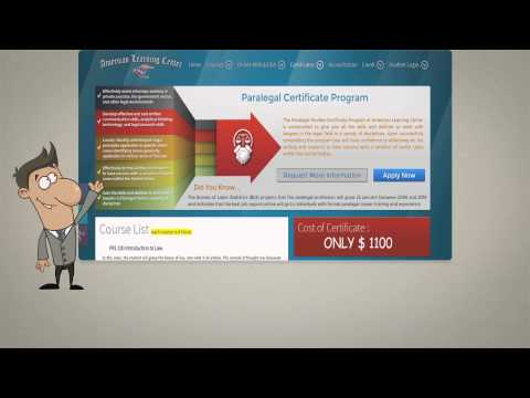 Online Paralegal Certificate at American Learning Center