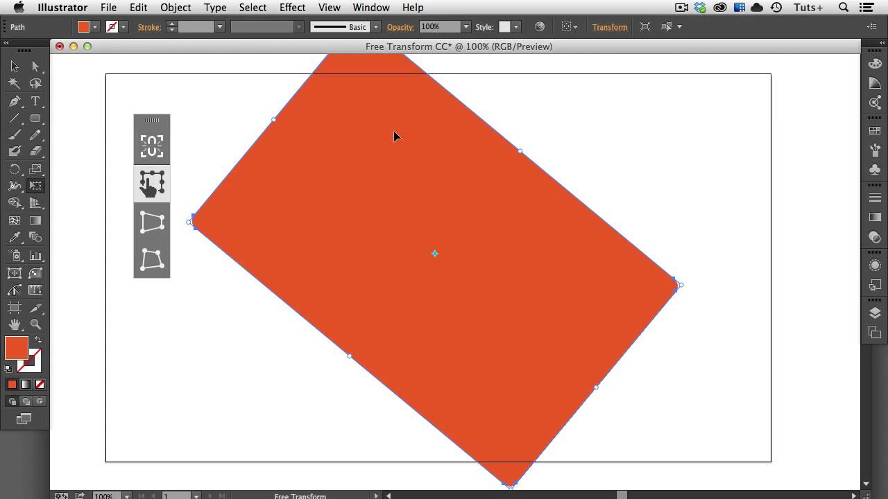 Quick Tip New Features Of The Free Transform Tool In Adobe Illustrator Cc Youtube