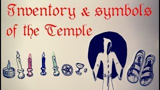 Symbolism and set up of an altar and temple in the western magic and mysteries