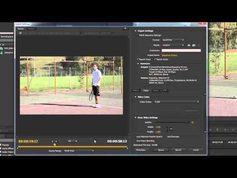 Tutorial Adobe Premiere Pro CS6 Cómo exportar videos para Youtube u otras webs thumbnail