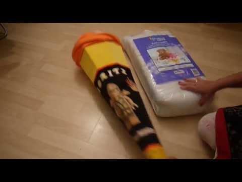 Nähen für Anfänger Ideen Schultüte Kissen nähen Einschulung Anleitung