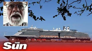 Passenger on coronavirus cruise turned away from five ports says ship mood is 'anxious'