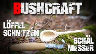Löffel schnitzen Schälmesser Mora Nr. 162 - Bushcraft Deutschland #004 (german/deutsch)
