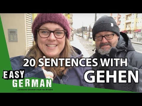 "20 Sentences with the Verb ""gehen"" 