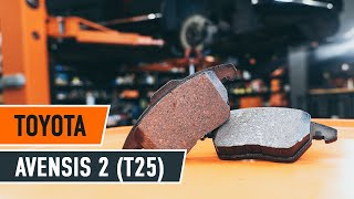 How to change front brake pads on TOYOTA AVENSIS 2 T25 TUTORIAL | AUTODOC