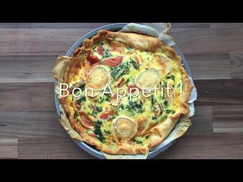 spinach,-tomato-and-goat-cheese-quiche-|-quiche-à-l'épinard,-tomates-et-fromage-de-chèvre