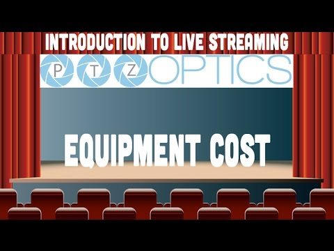 How much does live streaming equipment cost?