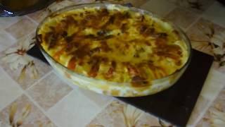 Запеканка из картофеля, кабачка и помидора! Casserole of zucchini, potatoes and tomatoes