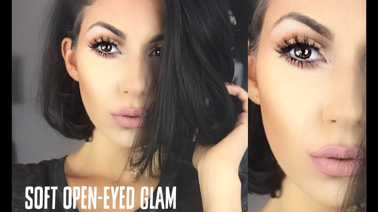 Soft open eyed glam great for small eyes makeup for Salon 615 lashes