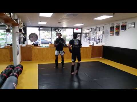 Sparring and bag work out