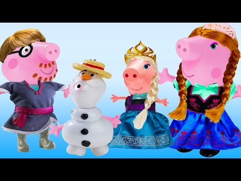 Peppa Pig - Frozen Dress up Party Toys Play Cartoon