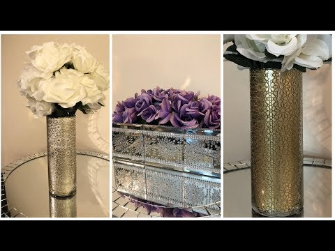 Dollar Tree DIY - 💕 Stenciled Glam Home Decor 💕