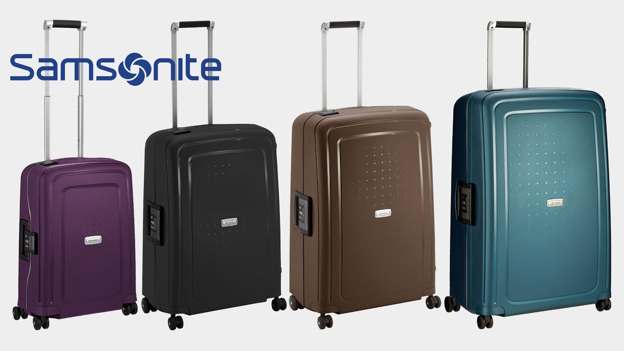 samsonite s cure dlx 4 rollen trolley koffer youtube. Black Bedroom Furniture Sets. Home Design Ideas