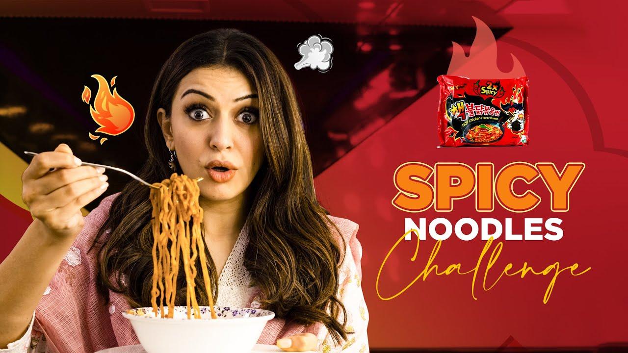 Download Spicy Noodles Challenge🔥 || Samyang Korean 2X Spicy Noodles || Hansika Motwani || Silly Monks