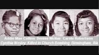 Civil Rights Martyrs 1955 to 1968.