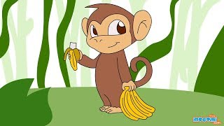 How to Draw a Monkey | Step By Step Drawing for Kids | Educational Videos by Mocomi