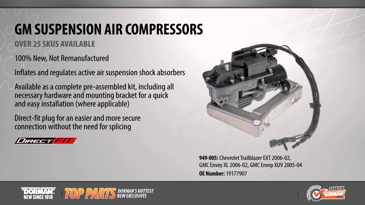 Highlighted Part: Suspension Air Compressor for Select Chevy Trailblazer &  GMC Envoy Models