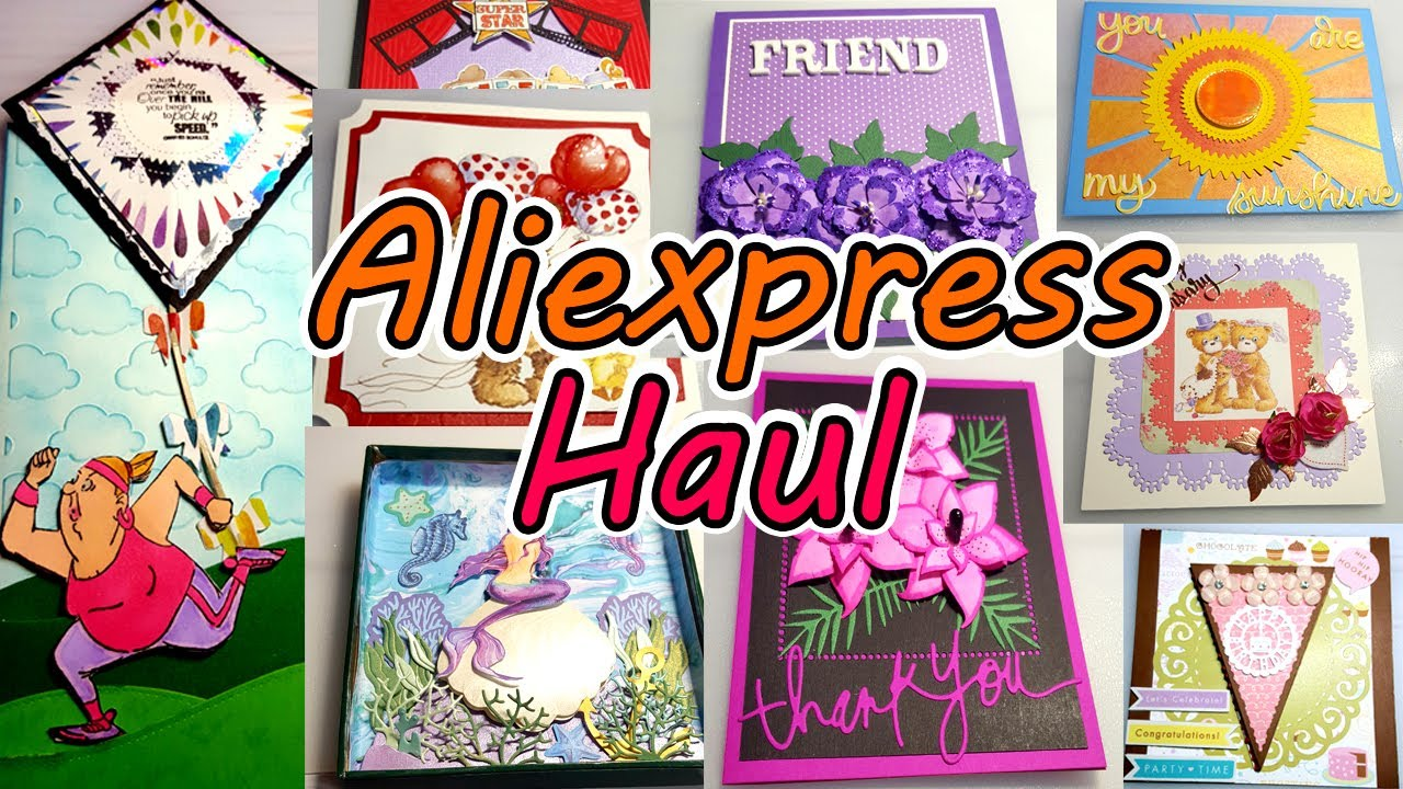 Aliexpress Die Haul with Card Samples│Surprise Creations June 2020