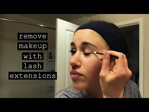 How I Remove Makeup with Eyelash Extensions | Carly Rivlin