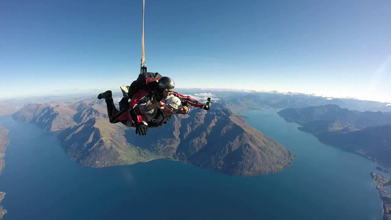 紐西蘭NZ。皇后鎮Queenstown。高空跳傘Skydiving。 - YouTube