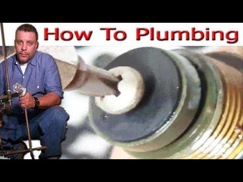comment réparer la vanne baignoire et douche deux poignées - YouTube