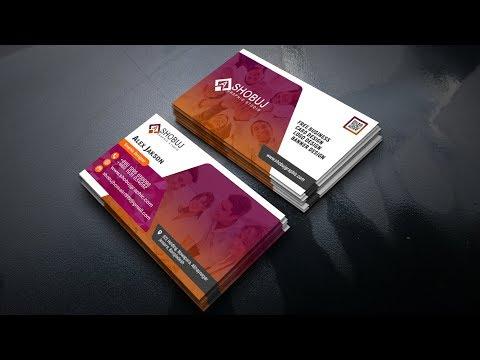 Professional Business Card Design Tutorial ~ Photoshop cc Tutorial ~ Photoshop Card Design thumbnail
