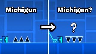/\/\/\ CHALLENGE.. But? | Geometry Dash : Michigun? Challenge (Triple Spikes) \/\/\/