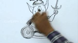 How to Draw an Alien Warrior