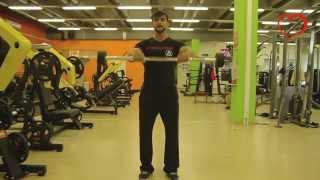видео Подъем штанги перед собой в упоре