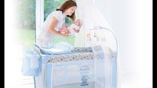 видео Детский манеж Graco складной, детские манежи кроватки купить, детская кровать манеж
