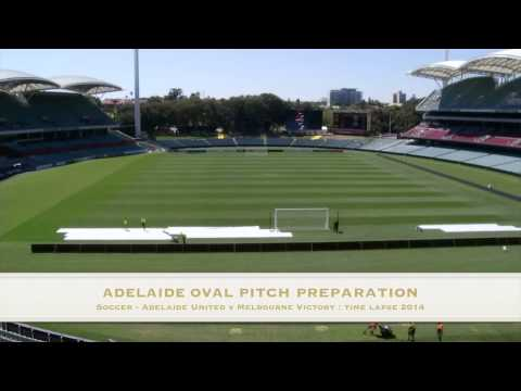 Adelaide Oval Soccer pitch preparation Converted